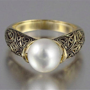 Elegant Natural Pearl Ring - GenieMania Fr