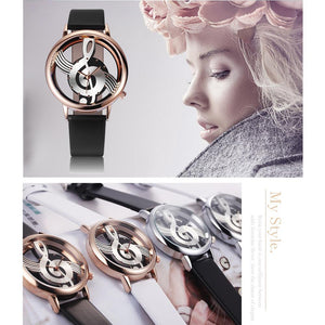Musical Note Leather Watch - GenieMania Fr
