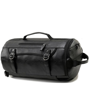 LARGE LEATHER ROLLING DUFFEL BAG