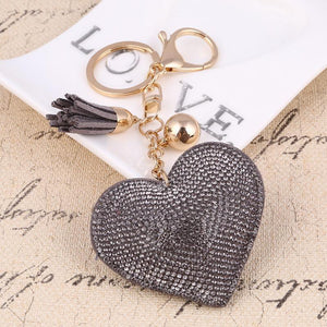 Cherry® leather heart keychain