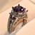 Genuine Amethyst Gemstone Ring - GenieMania Fr