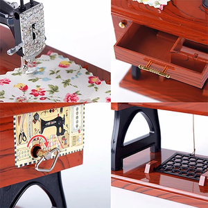Mini Sewing Machine Music Box - GenieMania Fr