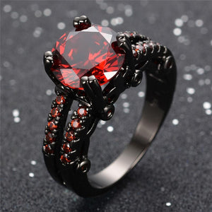 January Black Gold Filled Ring - GenieMania Fr