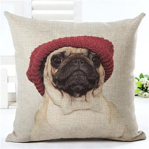 (HOT) Pug Pillow Case