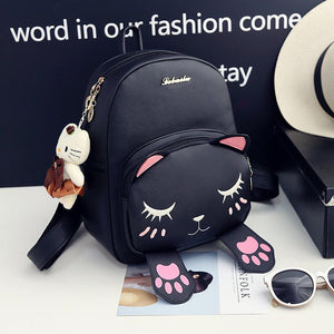 LIMITED EDITION : Leather Cat Backpack