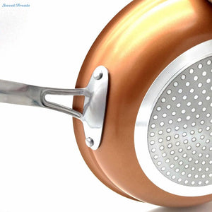SLIPPY™ Non-stick Copper Frying Pan with Ceramic Coating and Induction [10 inches] - GenieMania Fr