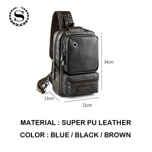 CASUAL LEATHER MESSENGER BAG [3 VARIANTS]