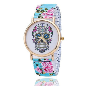 Flower Skull Watch - GenieMania Fr