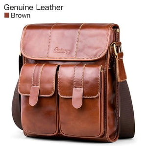 CASUAL LEATHER MESSENGER BAG [2 VARIANTS] - GenieMania Fr