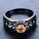 November Black Gold Filled Ring - GenieMania Fr