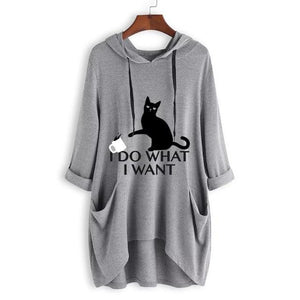 I Do What I Want - Cat Hoodie - GenieMania Fr