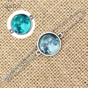 PREMIUM WHITE MOON BRACELET AND NECKLACE COLLECTION - GenieMania Fr