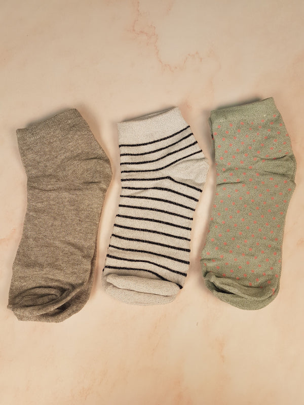 Chaussettes - boîte 3 paires Akari (onesize)
