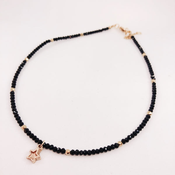 collier chocker crystal