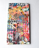 Beauty Shop - long stretched screen, one of a kind screen printed, drop cloth, modern wall art