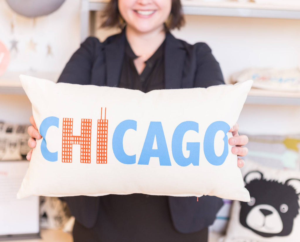 Hi From Chicago - pillow case