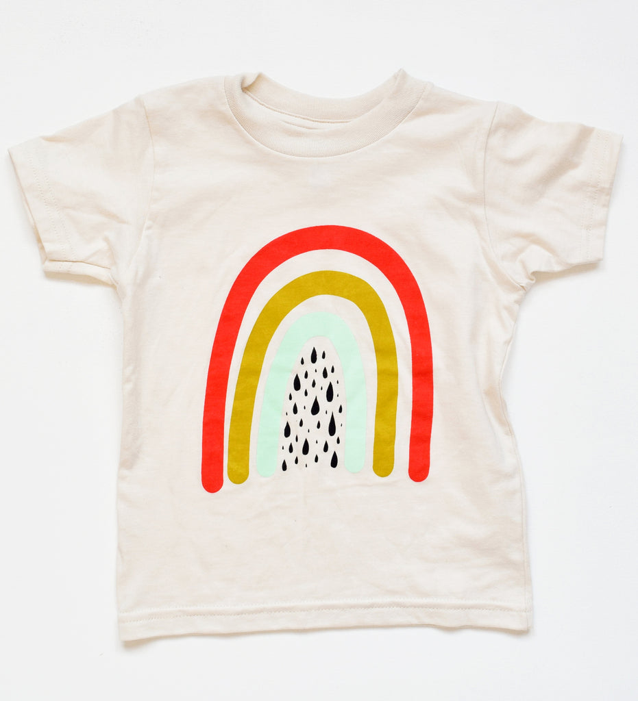 Over the Rainbow - kid's hand printed, organic, t-shirt