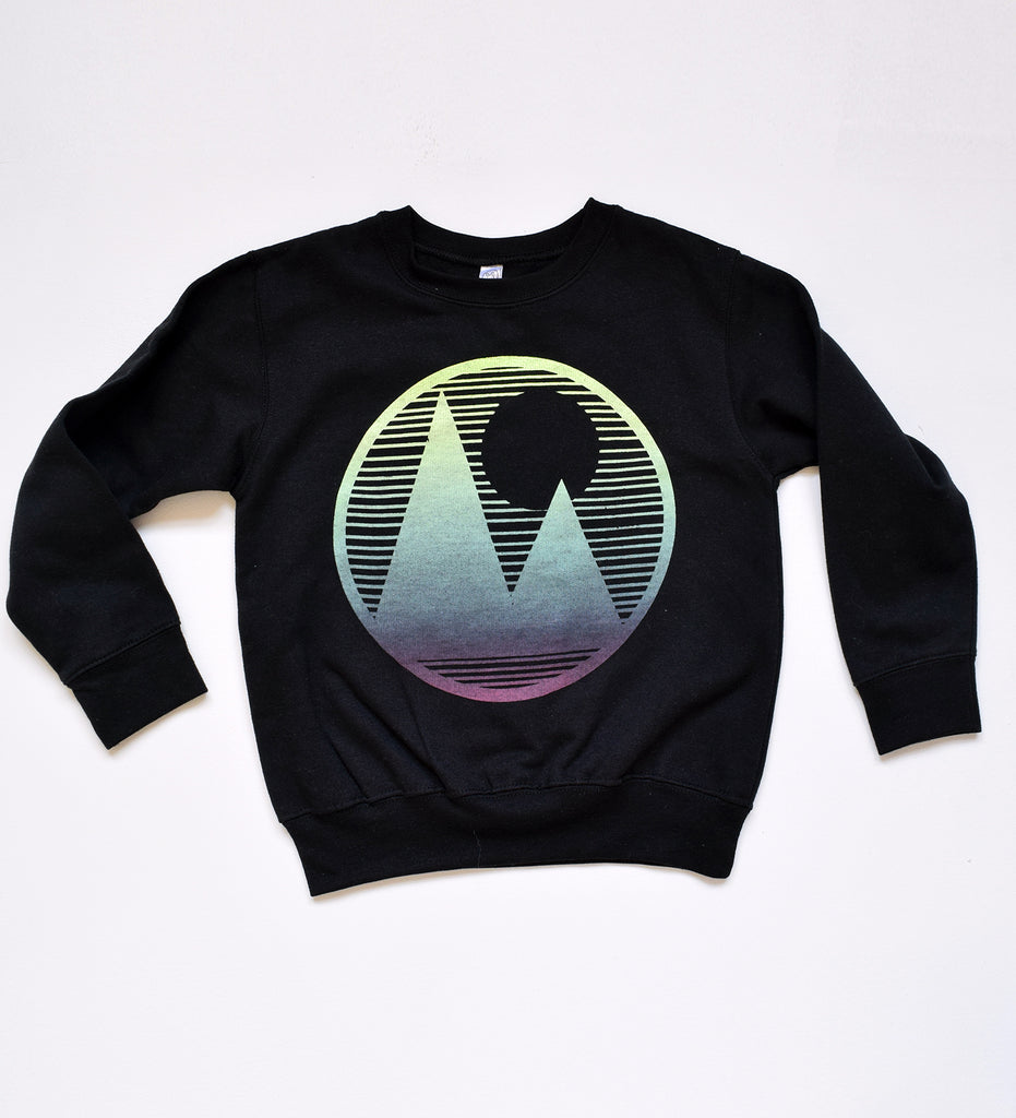 Mountainscape - kid crew sweatshirt