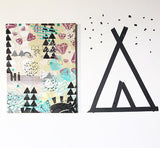 Customized, hand printed, stretched wall art! You pick the colors