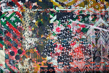 Confetti- large stretched screen, one of a kind screen printed, sale