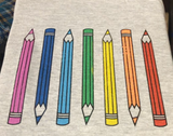 Color Pencils - kid's crew sweatshirt