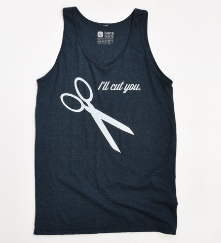 I'll Cut You- unisex tank L - sale