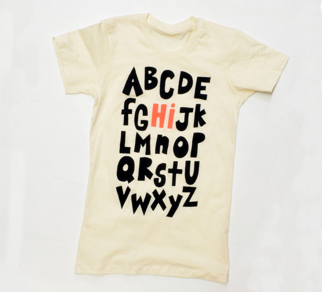 Alphabet - women's slim fit t-shirt - sale