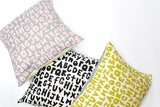The Alphabet - double sided pillow case, chartreuse - sale