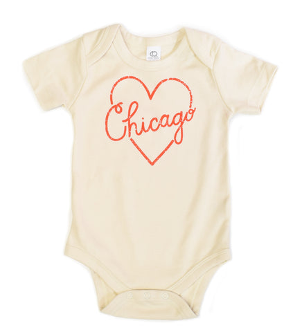 I Heart Chicago - organic baby bodysuit