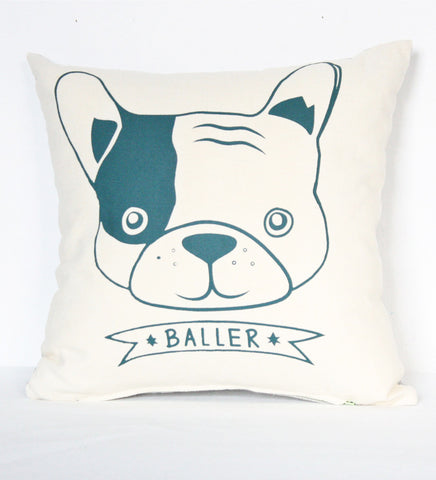 Baller - Frenchie pillow case