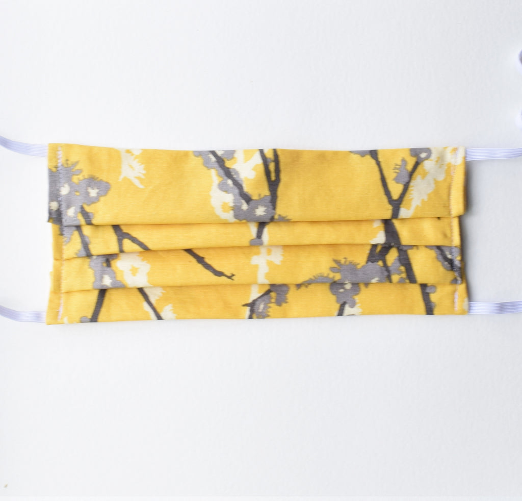 Adult Mask - Yellow Branches, elastic