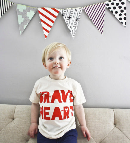 Brave Heart - hand printed t-shirt