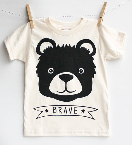Brave Bear - organic kid's shirt