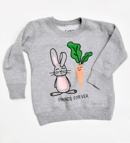 Friends Forever - Bunny Carrot kids sweatshirt