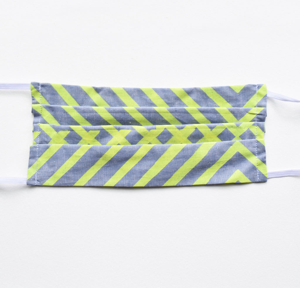 Adult Mask - Neon Stripes, elastic