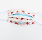 Kid Mask - Chicago Flag, elastic, reversible, adjustable