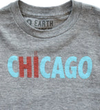 Hi from Chicago - kid's hand printed t-shirt