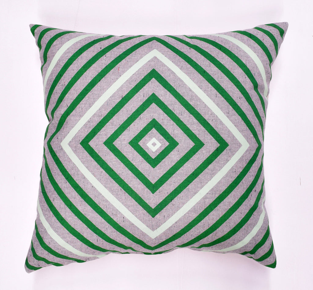 "It's Concentric - green and mint - 18""x18"" pillow - sale"