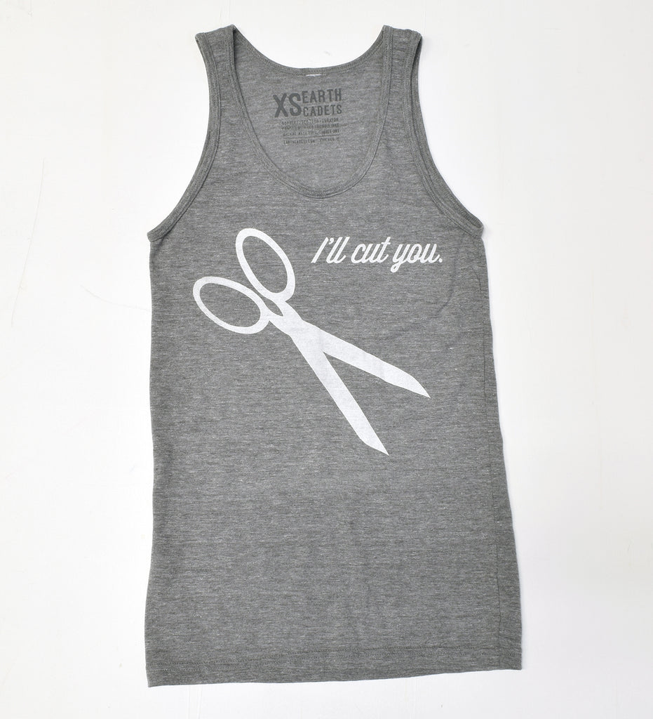 I'll Cut You - unisex tank XS- sale