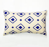 "Diamond Dance - cobalt blue - 12""x20"" pillow case - sale"