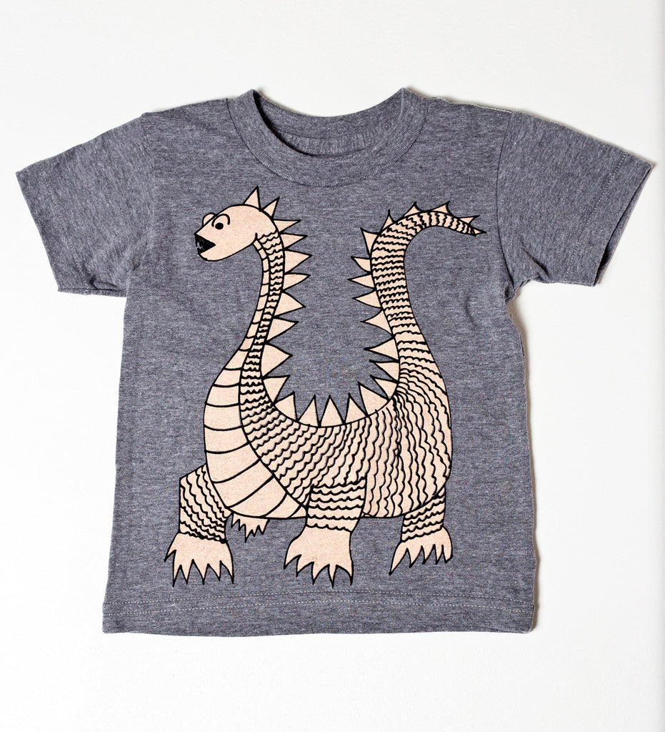 Elliot the dragon - kid's hand printed t-shirt