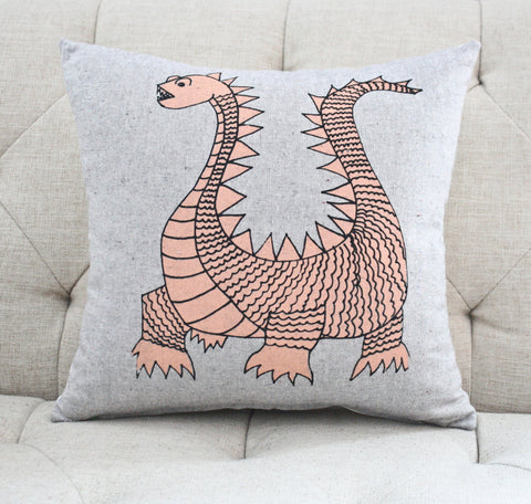 Elliot the Dragon- organic pillow