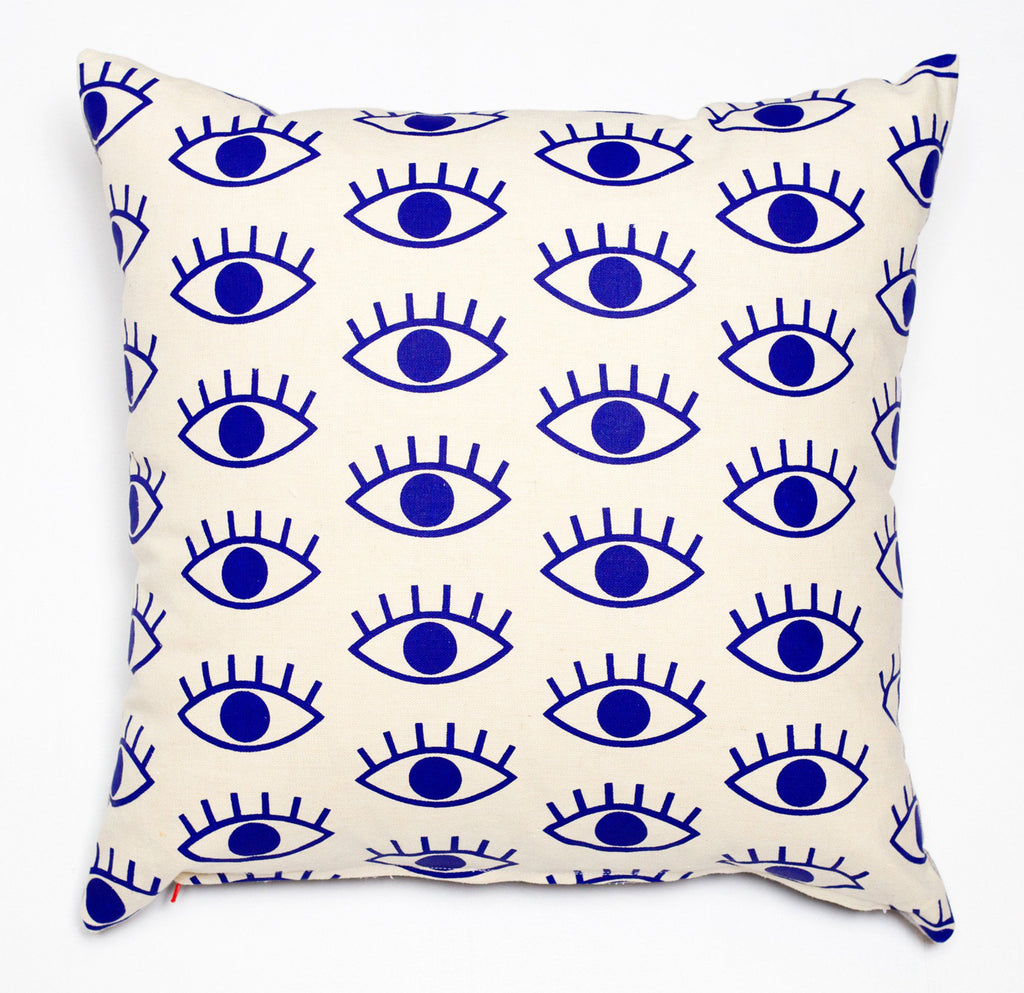 I Only Have Eyes for You - cobalt blue - pillow case