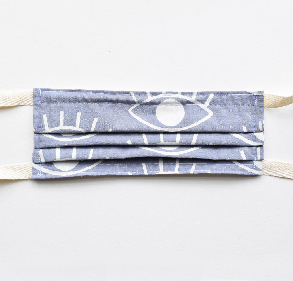 Adult Mask - Eyes Chambray, twill ties