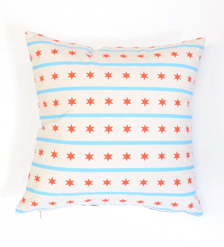 Chicago Flag - 16x16 - pillow case - sale