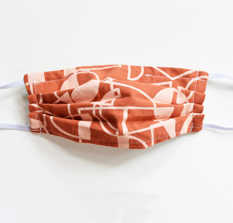 Kid Mask - Rust Shapes, elastic, reversible, adjustable