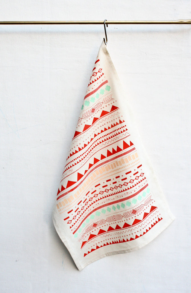 Geo Print - kitchen towel - sale