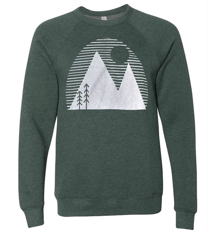 Over the Mountains - adult sweatshirt