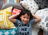 Hear Me Roar - kid's hand printed t-shirt