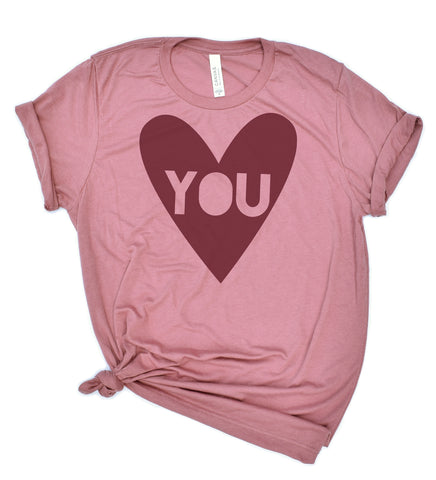 Heart You - adult shirt